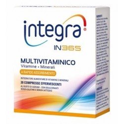 INTEGRA IN365 MULTIVITAMINICO 20 COMPRESSE EFFERVESCENTI AL GUSTO DI AGRUMI